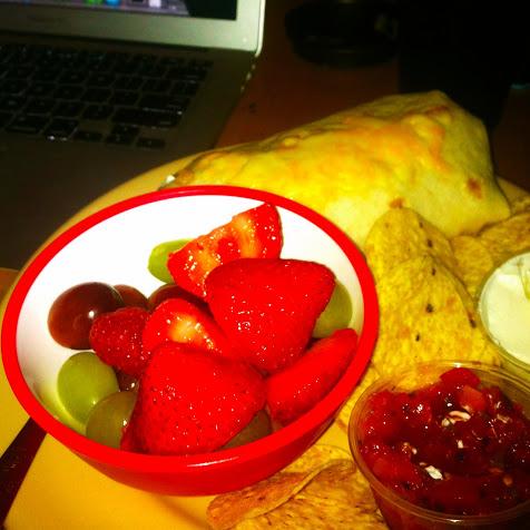 Breakfast burrito plate