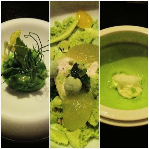 Three-part pea course, Alinea