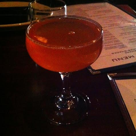 Saffron Rose cocktail – gin, saffron, orange blossom water, and ...