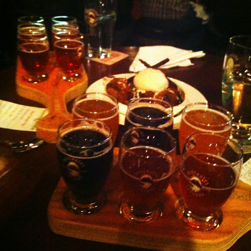 Beer flights and bread pudding at Deschutes Brewery