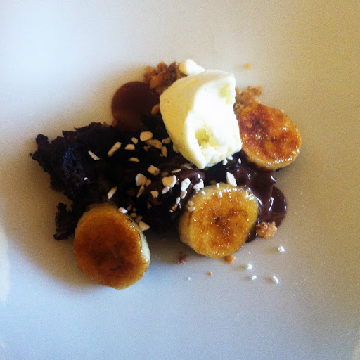 Chocolate hazelnut bread pudding dessert, Blackbird