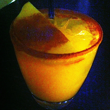 """Ricardo"" (tequila, orange liqueur, ginger puree, pear puree, lime, cider reduction), H5O Bistro inside our hotel"