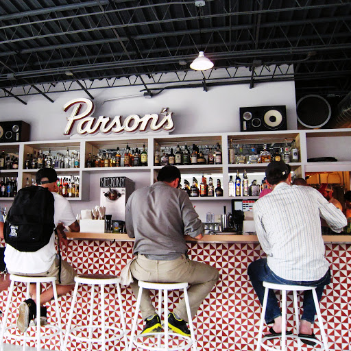 The interior bar at Parson's, with the negroni slushy machine in the center