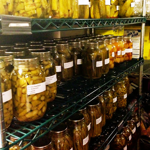 All kinds of pickles in the pantry