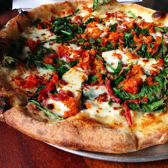 Southern pizza with