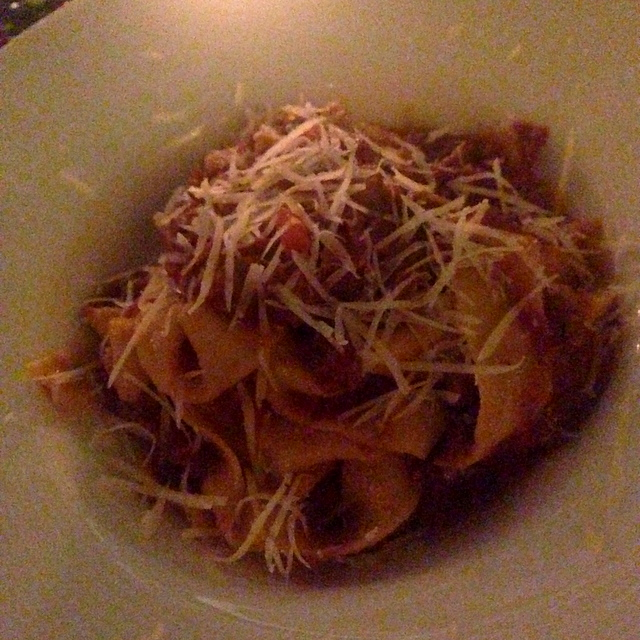 Pappardelle with spiced wild boar ragu and fresh parmesan