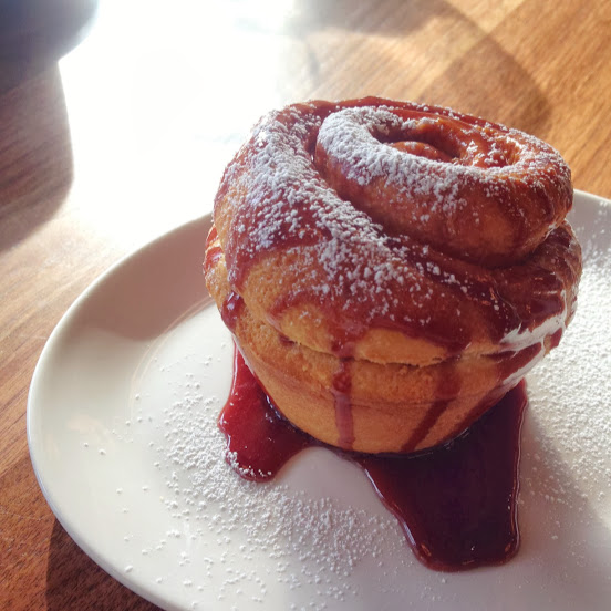 Peanut butter and jelly brioche sticky bun